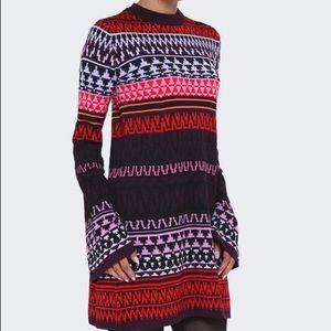 McQ by Alexander McQueen fair isle sweater dress